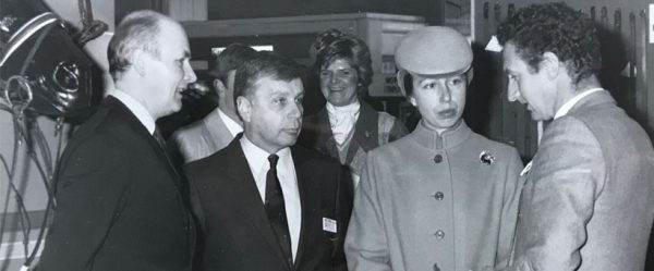 Malcolm Ainge meeting Princess Anne at BETA