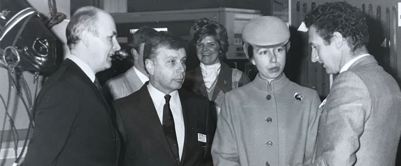 Malcolm Ainge meeting Princess Anne at BETA