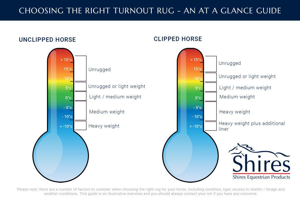 turnout rug temperature guide