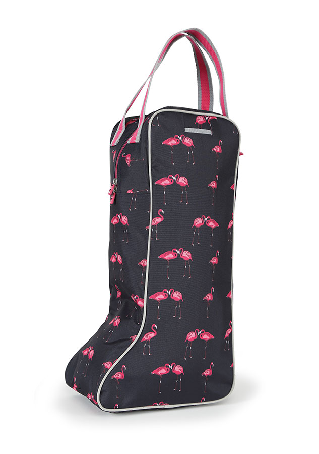 Long Boot Bag - Flamingo Print