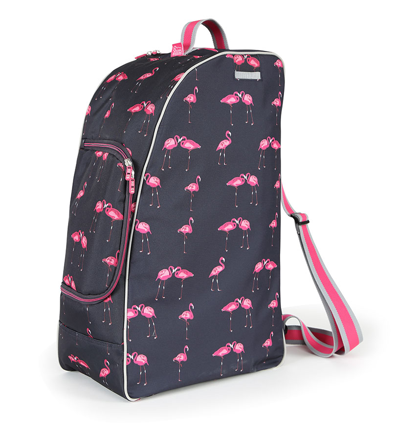 Boot, Hat & Whip Bag - Flamingo Print