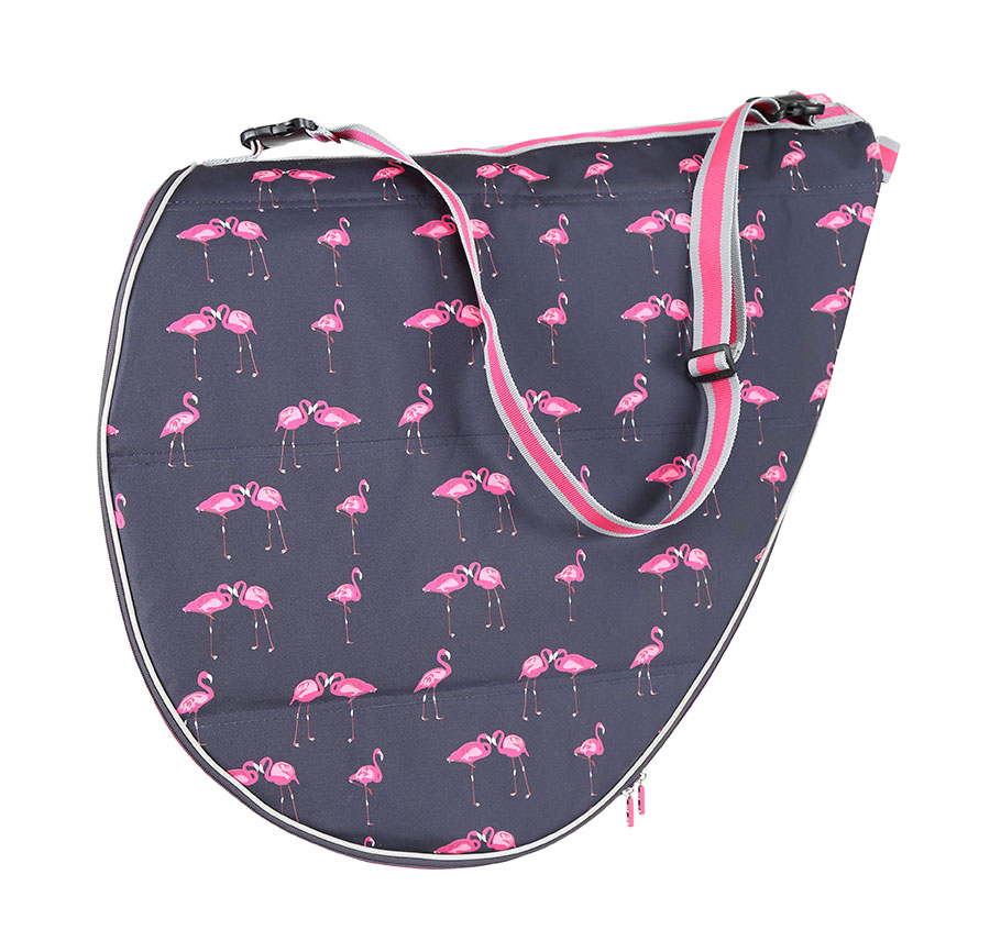 Saddle Bag - Flamingo Print